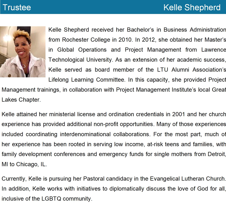 Kelle Lee Shepherd bio with pic1